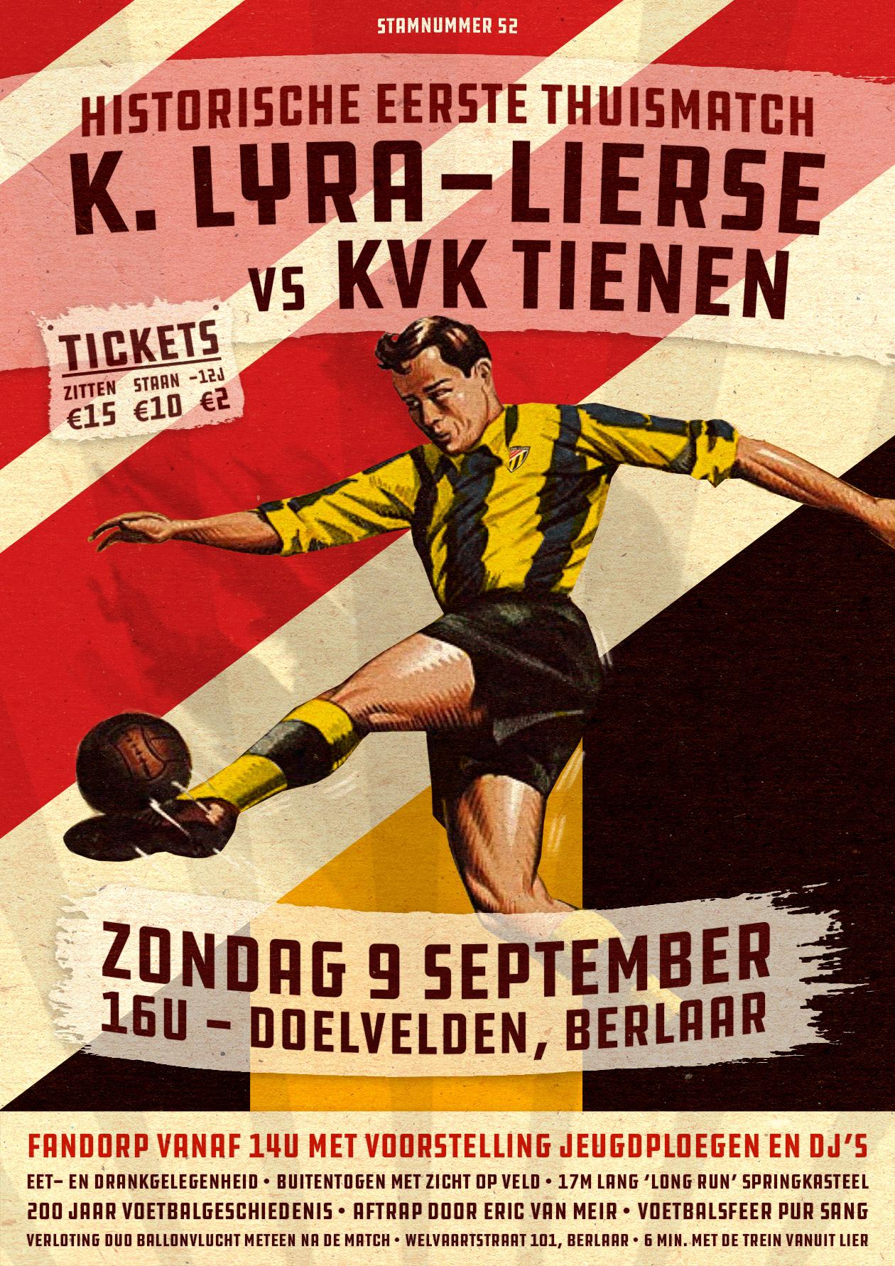 Officiële affiche K. Lyra-Lierse - KVK Tienen