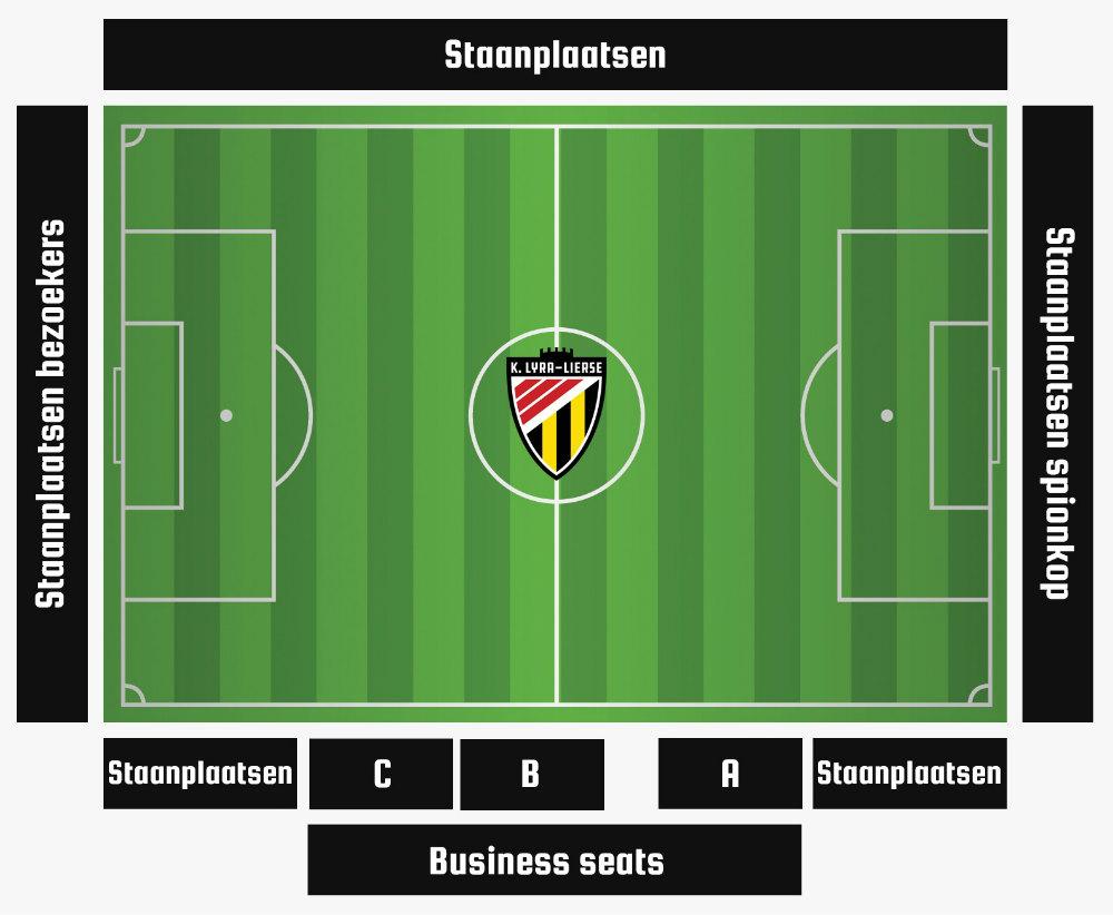 Stadionplan Doelvelden Berlaar - K. Lyra-Lierse
